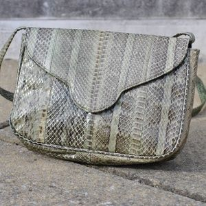 Handbags - Saks Fifth Avenue Snake Skin Shoulder Handbag